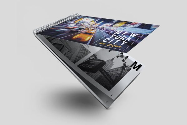 a size short edge wiro bound booklet